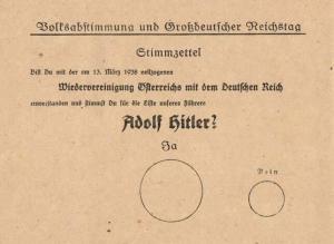 Hitler dönemine ait referandum pusulası